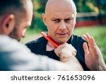 knife threat. kapap instructor... | Shutterstock . vector #761653096