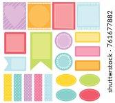 colorful planner sticker | Shutterstock .eps vector #761677882