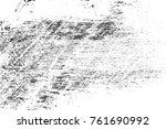 grunge black and white pattern. ... | Shutterstock . vector #761690992
