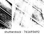 grunge black and white pattern. ... | Shutterstock . vector #761693692