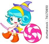 cute child | Shutterstock .eps vector #76170850