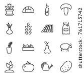 thin line icon set   flower ... | Shutterstock .eps vector #761715742