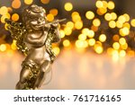 Golden Christmas Cherub Figure...