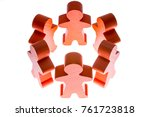 figures stand hand in hand in a ... | Shutterstock . vector #761723818
