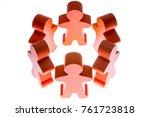 figures stand hand in hand in a ... | Shutterstock . vector #761723818
