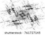 grunge black and white pattern. ... | Shutterstock . vector #761727145
