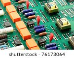 circuit board closeup view for... | Shutterstock . vector #76173064