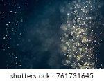 glitter lights abstract... | Shutterstock . vector #761731645