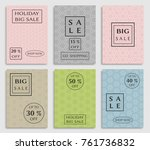 collection of sale banners ... | Shutterstock .eps vector #761736832