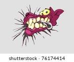 cartoon vector illustration of... | Shutterstock .eps vector #76174414