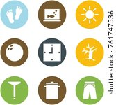 origami corner style icon set   ... | Shutterstock .eps vector #761747536
