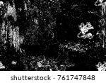 grunge black and white pattern. ... | Shutterstock . vector #761747848