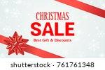 christmas sale banner vector...   Shutterstock .eps vector #761761348