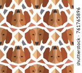 seamless polygonal pattern with ... | Shutterstock .eps vector #761765896
