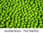 fresh green pea texture pattern ... | Shutterstock . vector #761766352