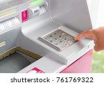 automatic deposit machine... | Shutterstock . vector #761769322
