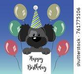 happy birthday greeting card... | Shutterstock .eps vector #761775106