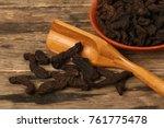shu di huang or botanical name... | Shutterstock . vector #761775478