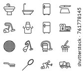 thin line icon set   sink  bath ... | Shutterstock .eps vector #761778145