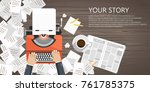 write your story business... | Shutterstock .eps vector #761785375