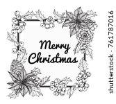 flower frame for merry... | Shutterstock .eps vector #761787016