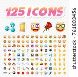 set of realistic cute icons on...   Shutterstock .eps vector #761803456