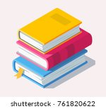 isometric book icon in flat... | Shutterstock .eps vector #761820622
