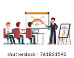 business man teacher giving... | Shutterstock .eps vector #761831542