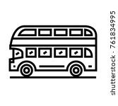 double decker bus vector... | Shutterstock .eps vector #761834995