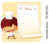 chef   menu | Shutterstock .eps vector #76185181