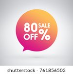 80  offer label sticker  sale... | Shutterstock .eps vector #761856502
