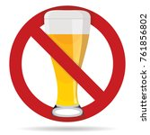 no beer sign or symbol  no... | Shutterstock .eps vector #761856802