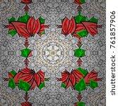ethnic texture. orient ... | Shutterstock .eps vector #761857906