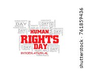 human rights  human rights are... | Shutterstock .eps vector #761859436