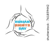 human rights  human rights are... | Shutterstock .eps vector #761859442