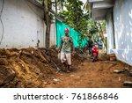 palolem goa india october 28... | Shutterstock . vector #761866846
