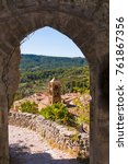 View Through A Stone Archway T...
