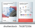 corporate business cover book... | Shutterstock .eps vector #761872336