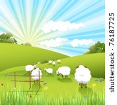 sheeps | Shutterstock . vector #76187725