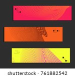minimal banner templates with... | Shutterstock .eps vector #761882542