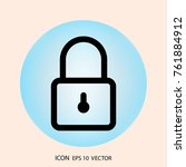 key lock icon in style isolated ...