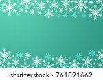 beautiful white snowflake on... | Shutterstock . vector #761891662