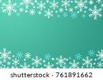 beautiful white snowflake on... | Shutterstock . vector #761891662