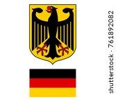 vector illustration german coat ... | Shutterstock .eps vector #761892082