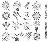 firework icons. celebration... | Shutterstock .eps vector #761893738