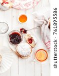 tea time with festive... | Shutterstock . vector #761895586