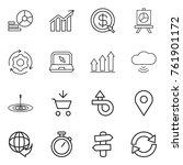 thin line icon set   diagram ...   Shutterstock .eps vector #761901172