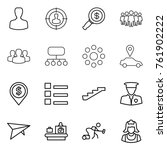 thin line icon set   man ... | Shutterstock .eps vector #761902222