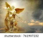 wonderful image of a statue of... | Shutterstock . vector #761907232