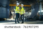male and female industrial... | Shutterstock . vector #761907295